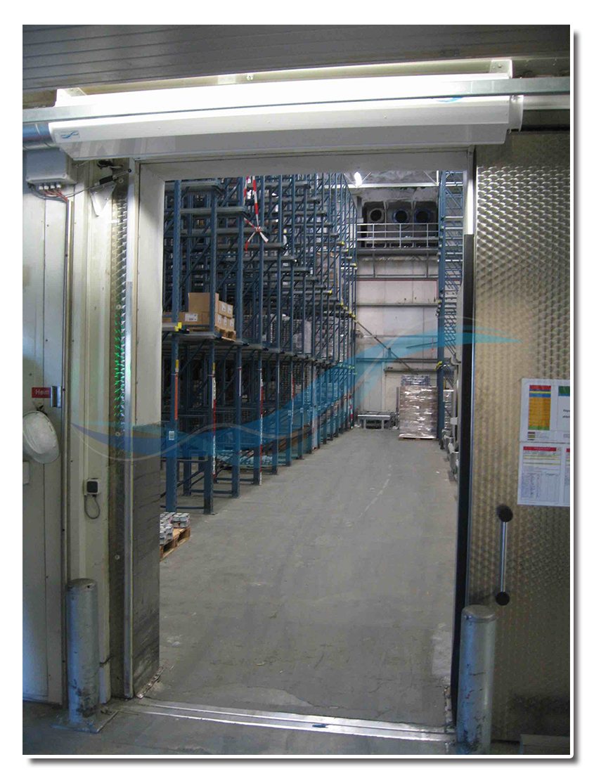 AFIM Porte d'air – rideau d'air pour chambre frigorifique, entrepôt frigorifique, congélateur (au lieu de porte à passage rapide)