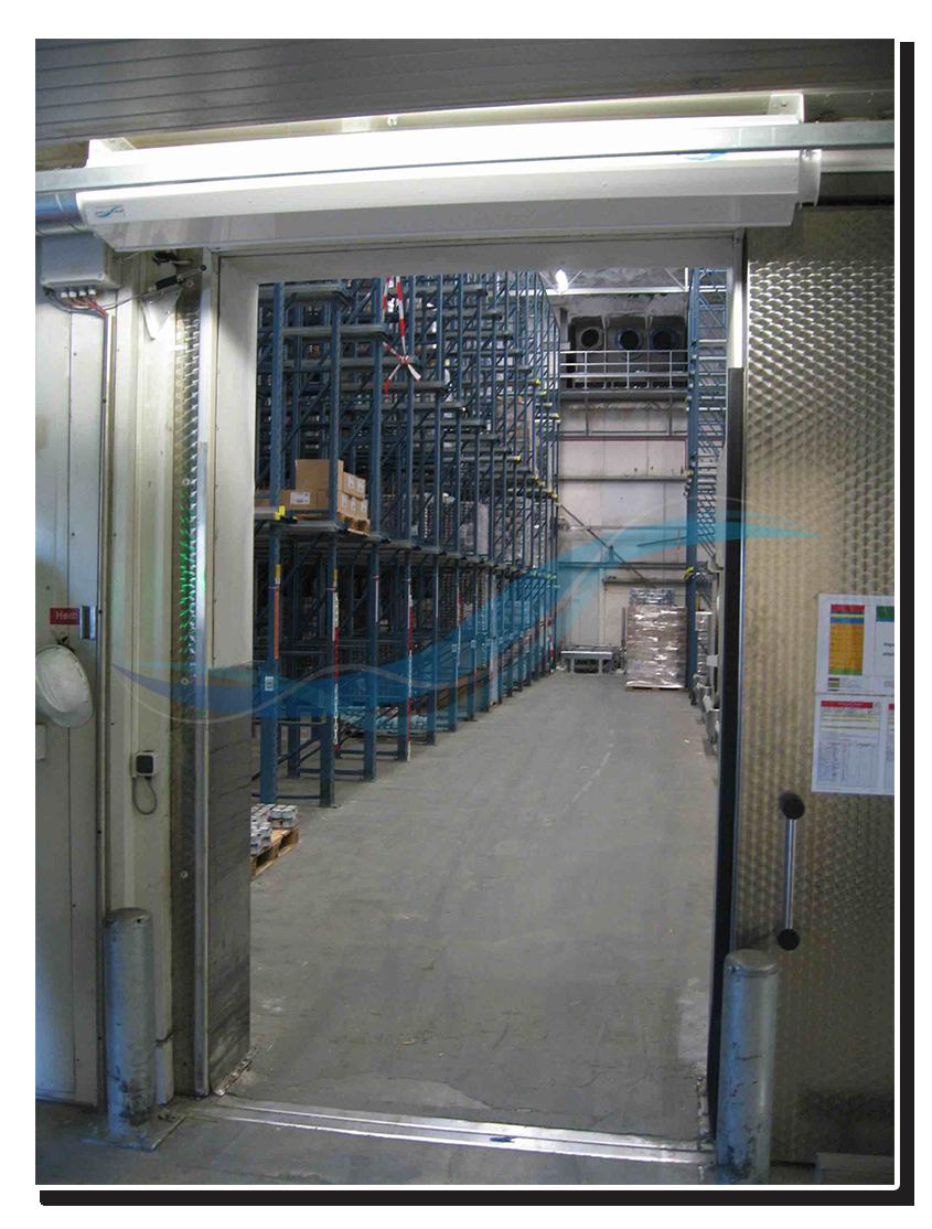 AFIM Lufttür - Luftschleier für Tiefkühllager, Tiefkühlraum, Gefrierzelle (statt Schnelllauftor)
