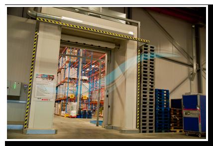 Rideau d'air entrepôt frigorifique marque AFIM®